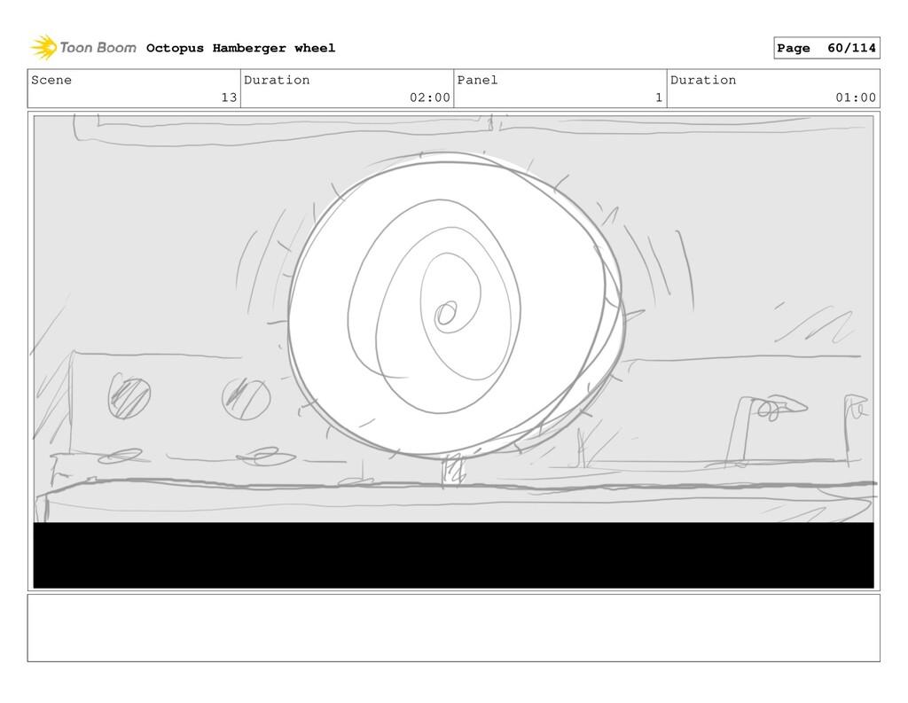 Scene 13 Duration 02:00 Panel 1 Duration 01:00 ...