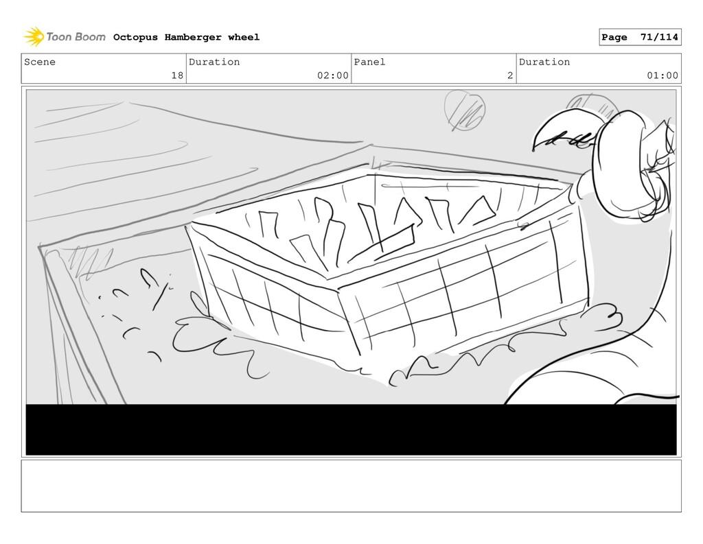 Scene 18 Duration 02:00 Panel 2 Duration 01:00 ...