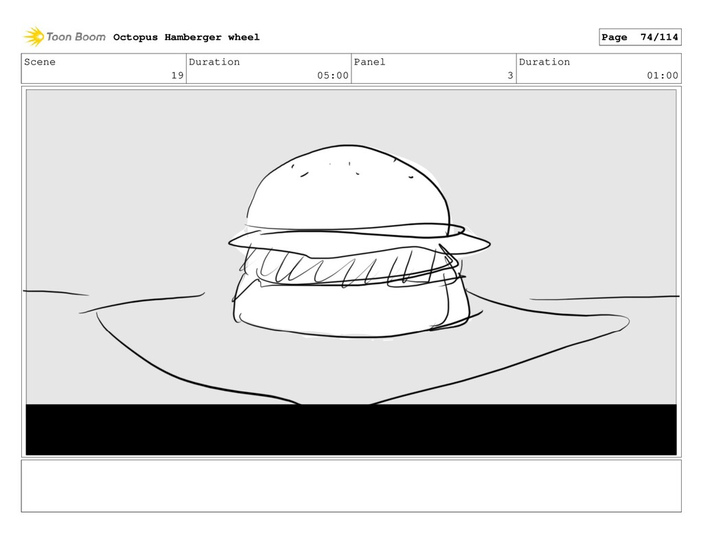 Scene 19 Duration 05:00 Panel 3 Duration 01:00 ...