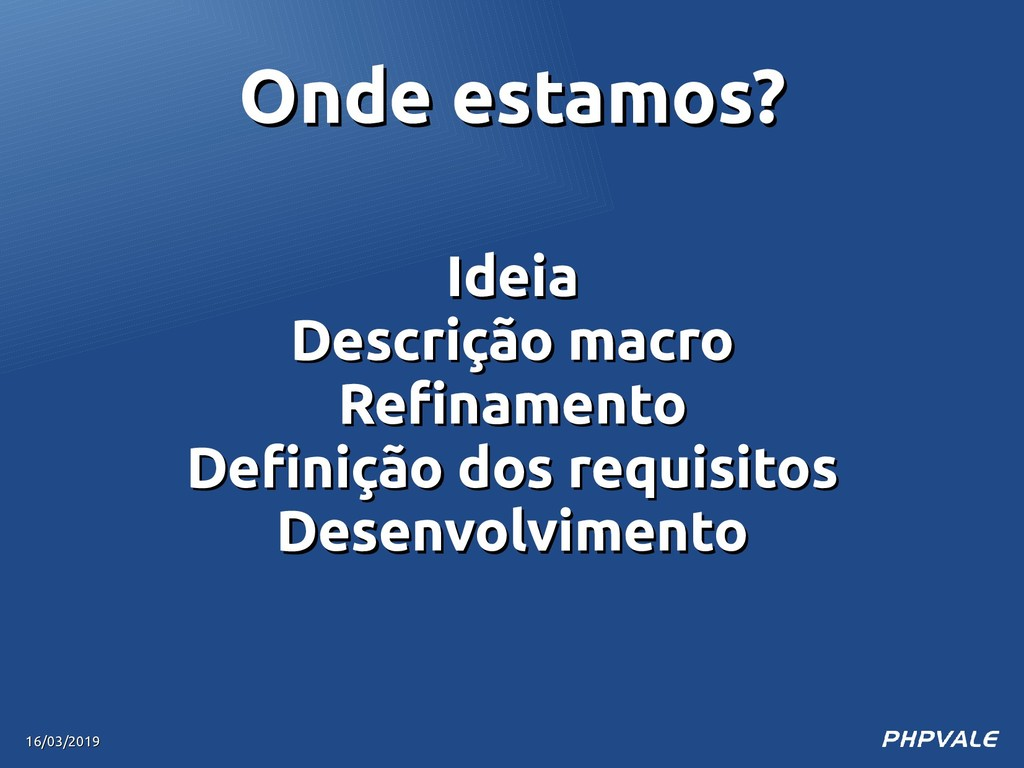 Ideia Ideia Descrição macro Descrição macro Ref...