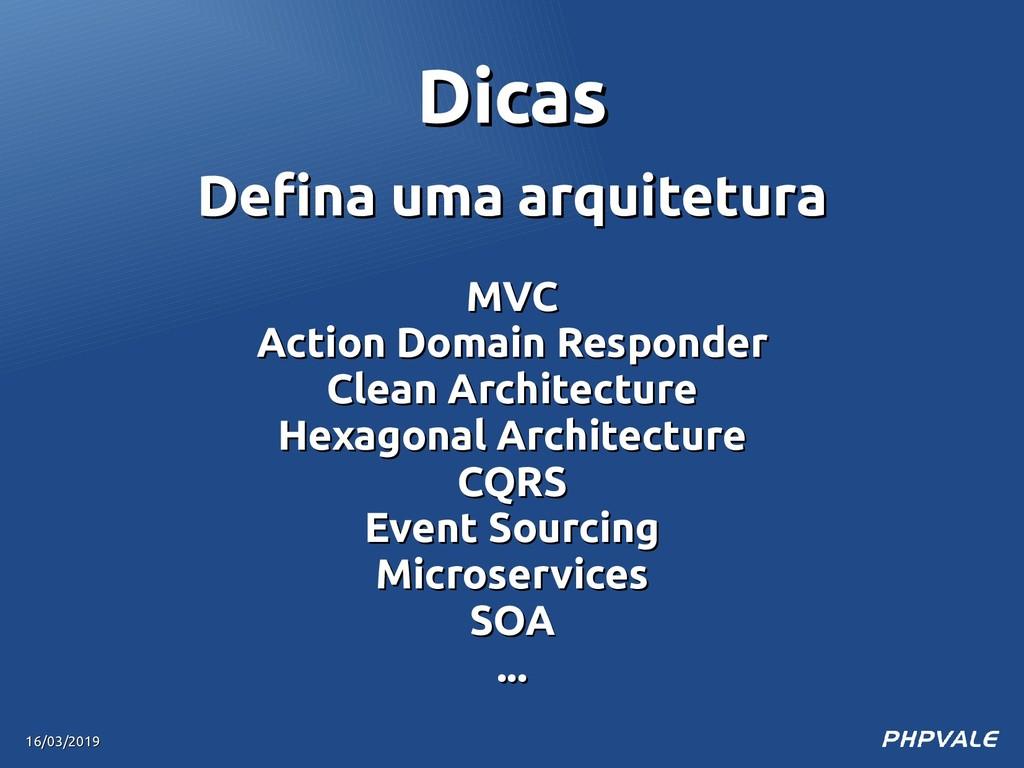 Defina uma arquitetura Defina uma arquitetura M...