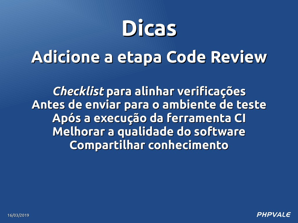 Adicione a etapa Code Review Adicione a etapa C...