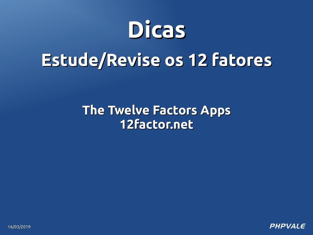 Estude/Revise os 12 fatores Estude/Revise os 12...