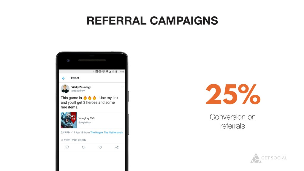 @zasadnyy REFERRAL CAMPAIGNS 25% Conversion on ...