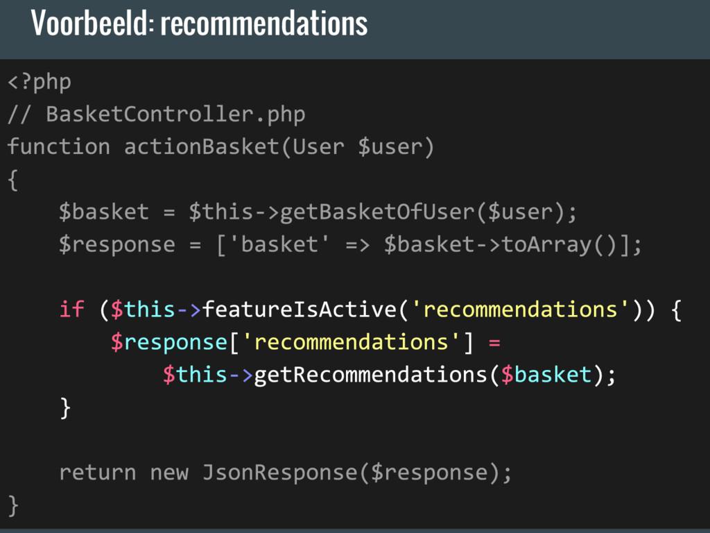 Voorbeeld: recommendations