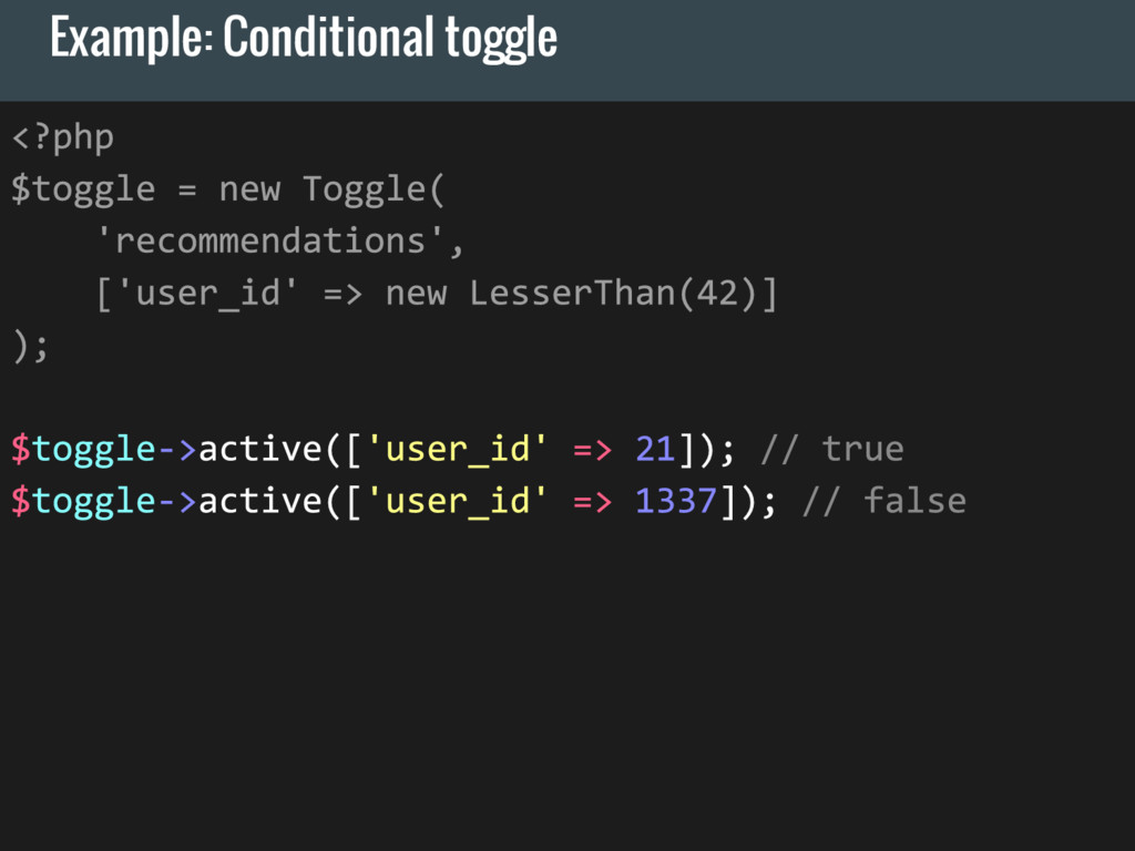 Example: Conditional toggle