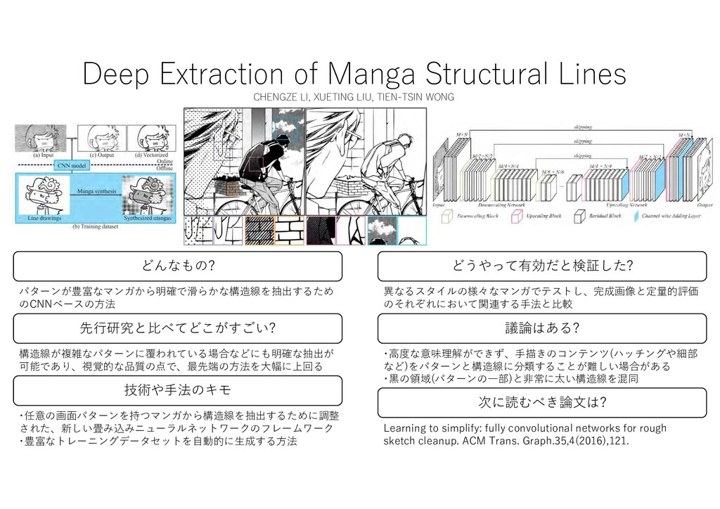 Deep Extraction of Manga Structural Lines CHENG...