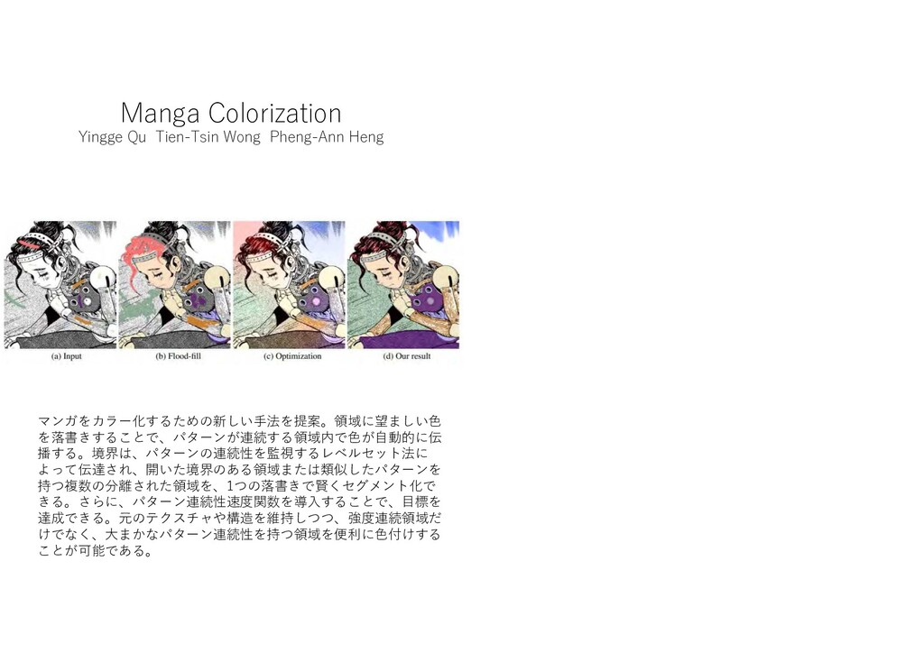 Manga Colorization Yingge Qu Tien-Tsin Wong Phe...