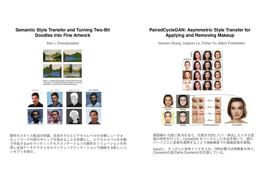 顔画像 化粧 焦点 当 ,化粧 付加した ・除去した す 変 換 研究 行 た CycleGA...