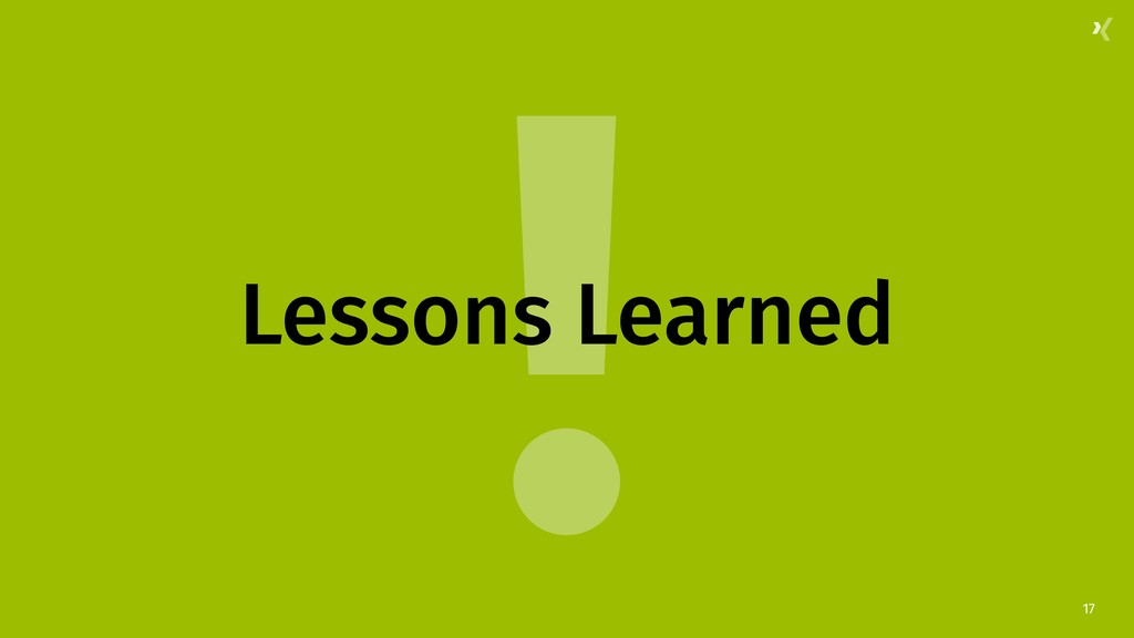 ! 17 Lessons Learned