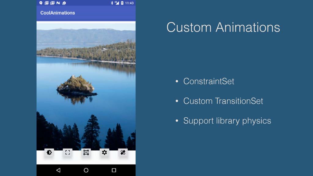 Custom Animations • ConstraintSet • Custom Tran...