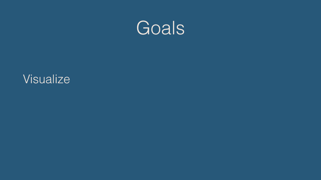 Goals Visualize