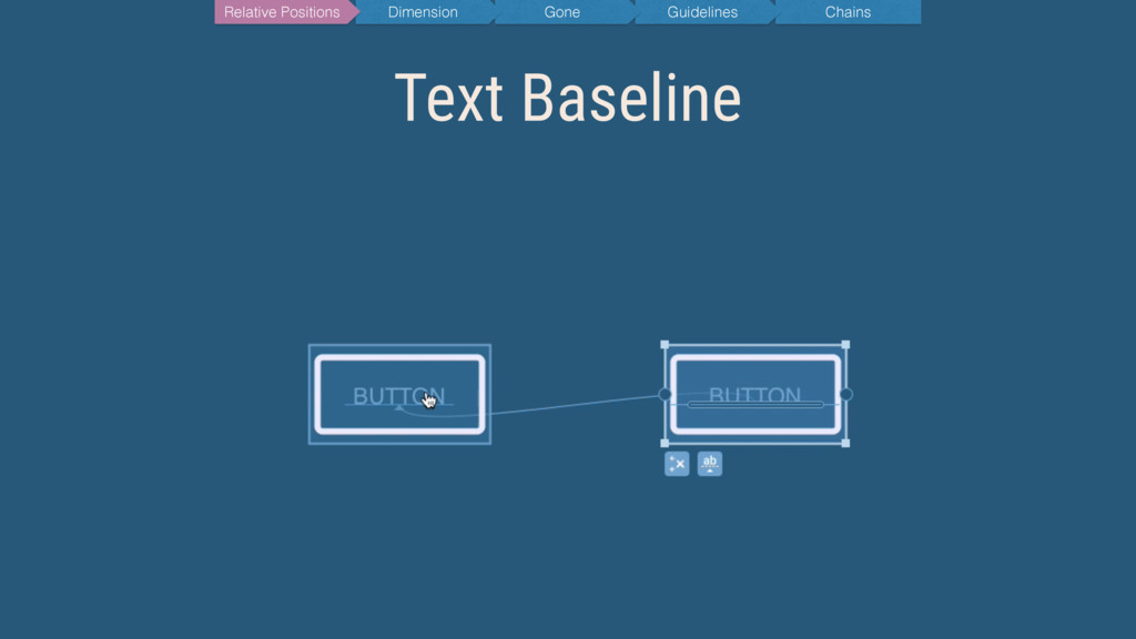 Text Baseline Chains Guidelines Gone Dimension ...