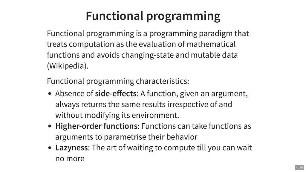 Functional programming Functional programming i...