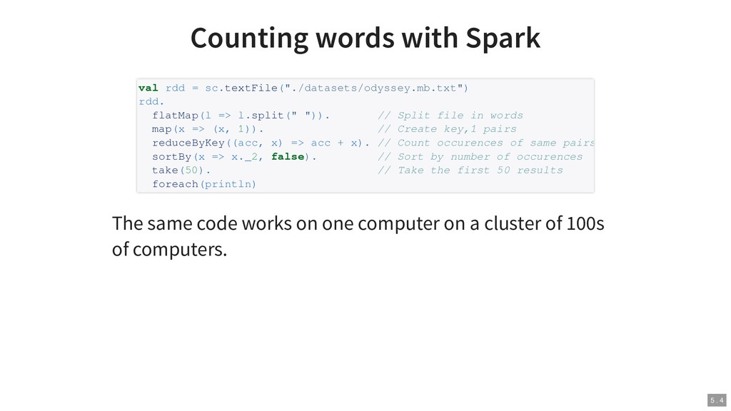 Counting words with Spark The same code works o...
