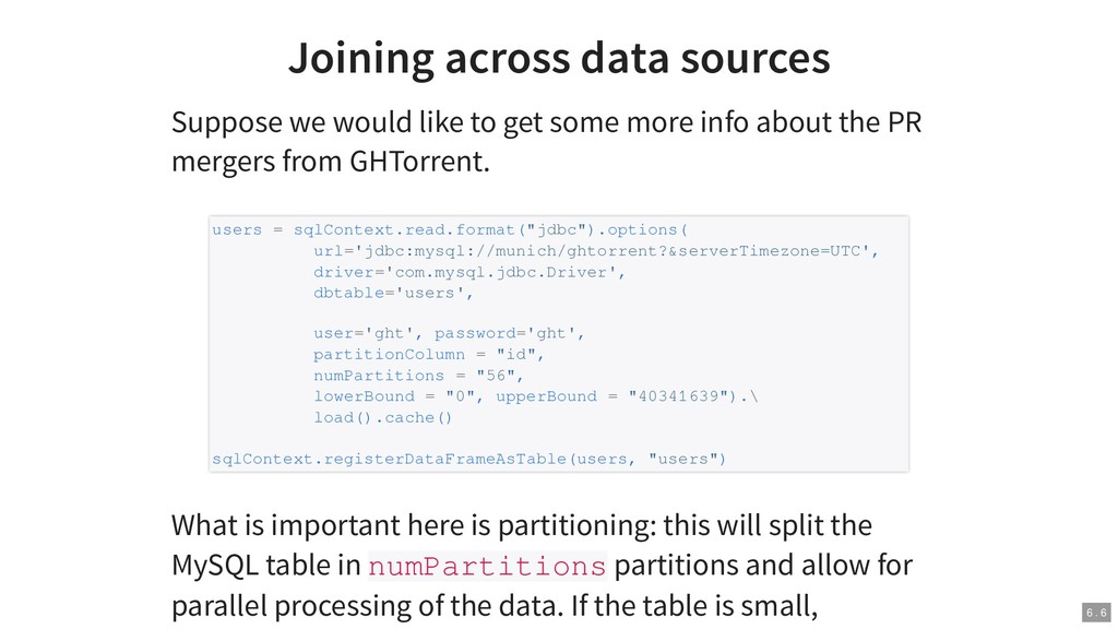 Joining across data sources Suppose we would li...