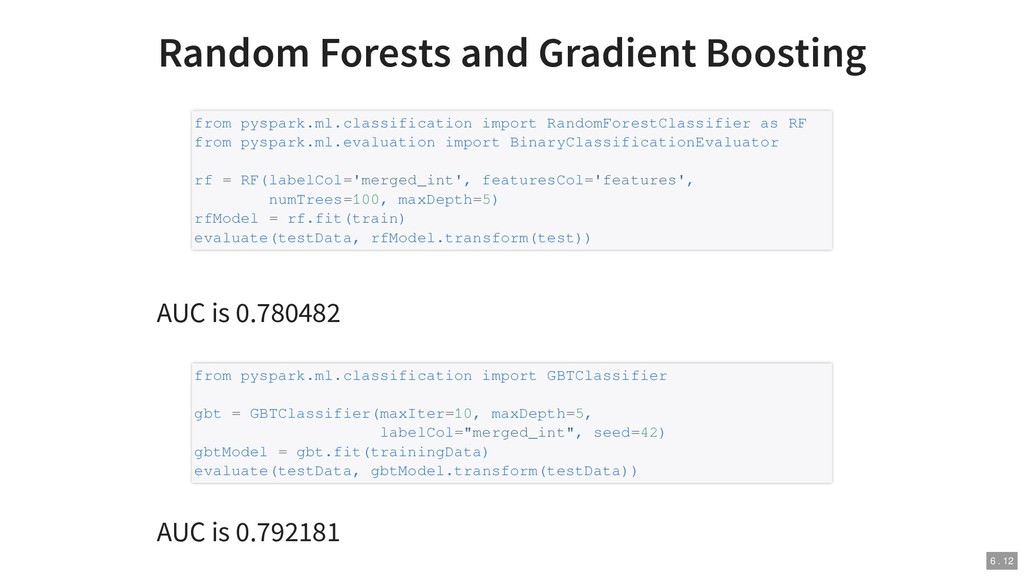 Random Forests and Gradient Boosting AUC is 0.7...