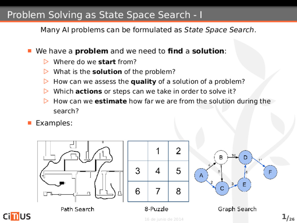 Problem Solving as State Space Search - I Many ...