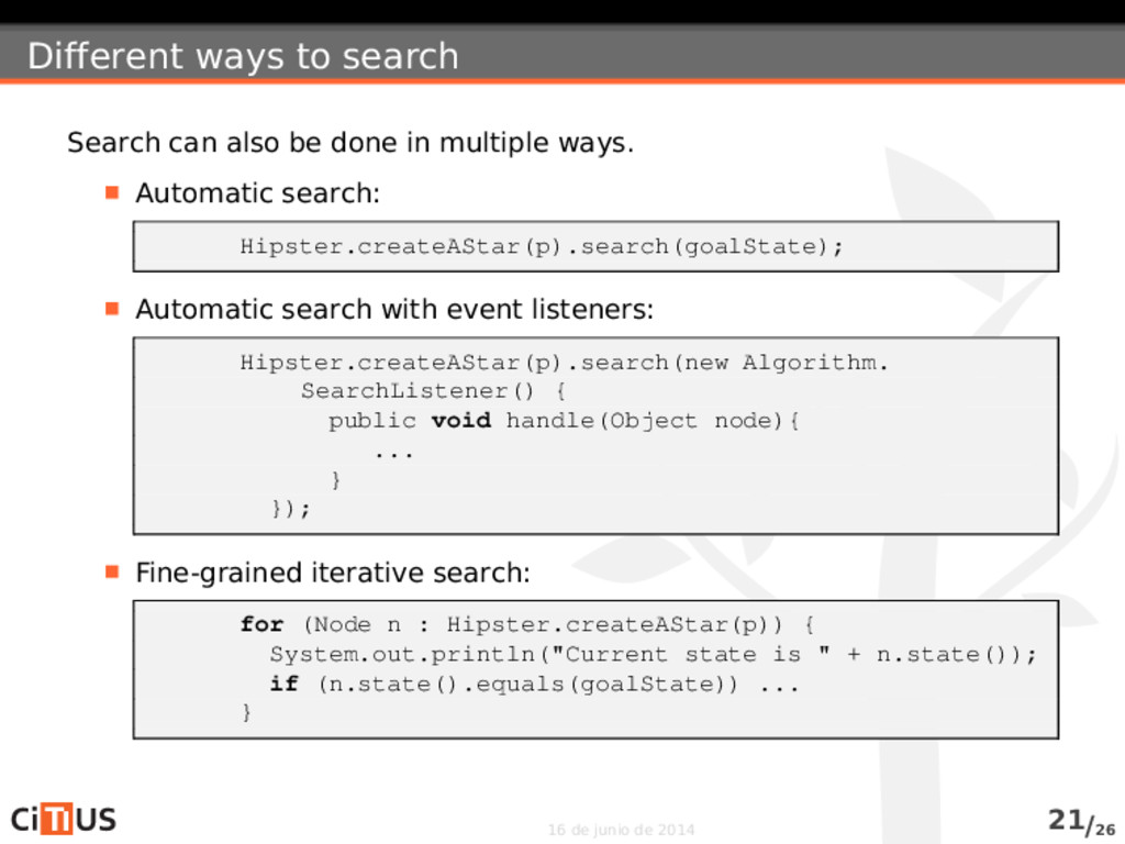 Different ways to search Search can also be don...
