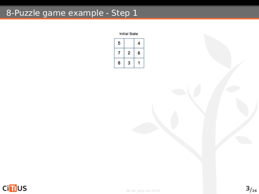 8-Puzzle game example - Step 1 16 de junio de 2...