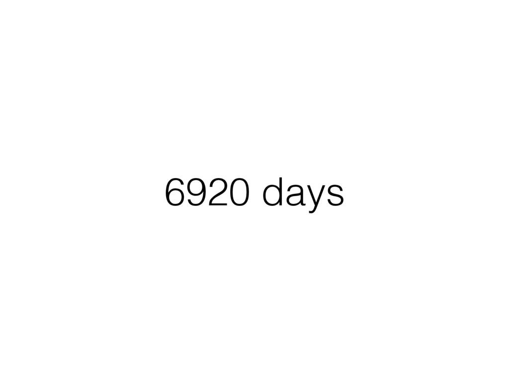 6920 days