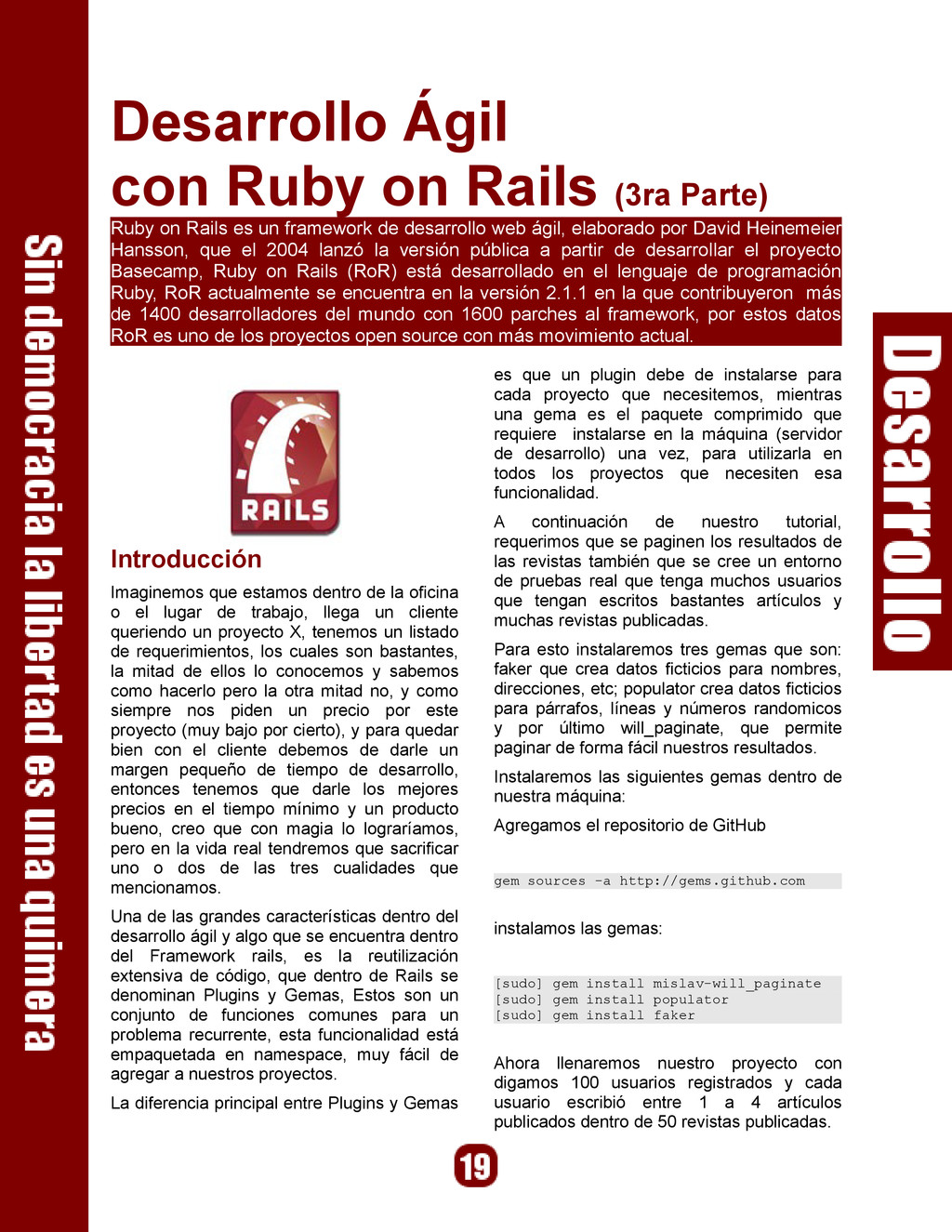 Desarrollo Ágil con Ruby on Rails (3ra Parte) R...