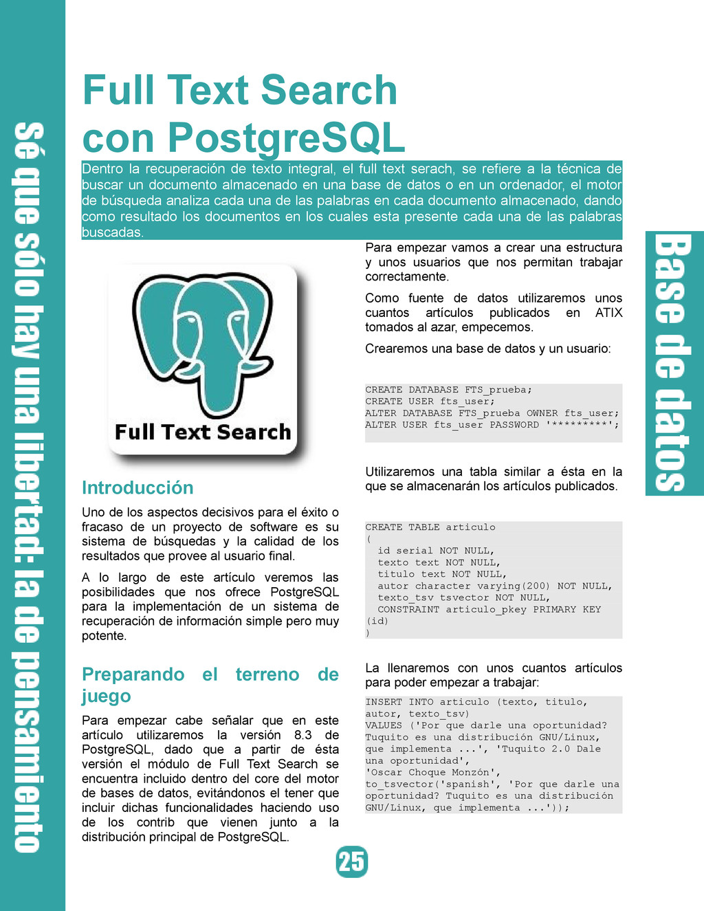 Full Text Search con PostgreSQL Dentro la recup...