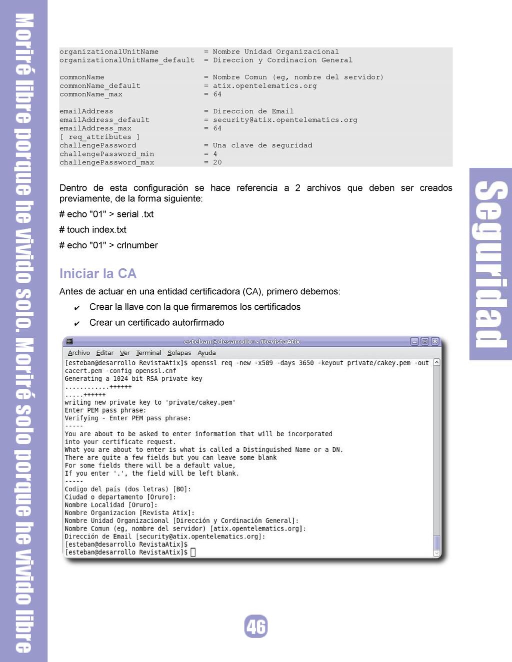 organizationalUnitName = Nombre Unidad Organiza...