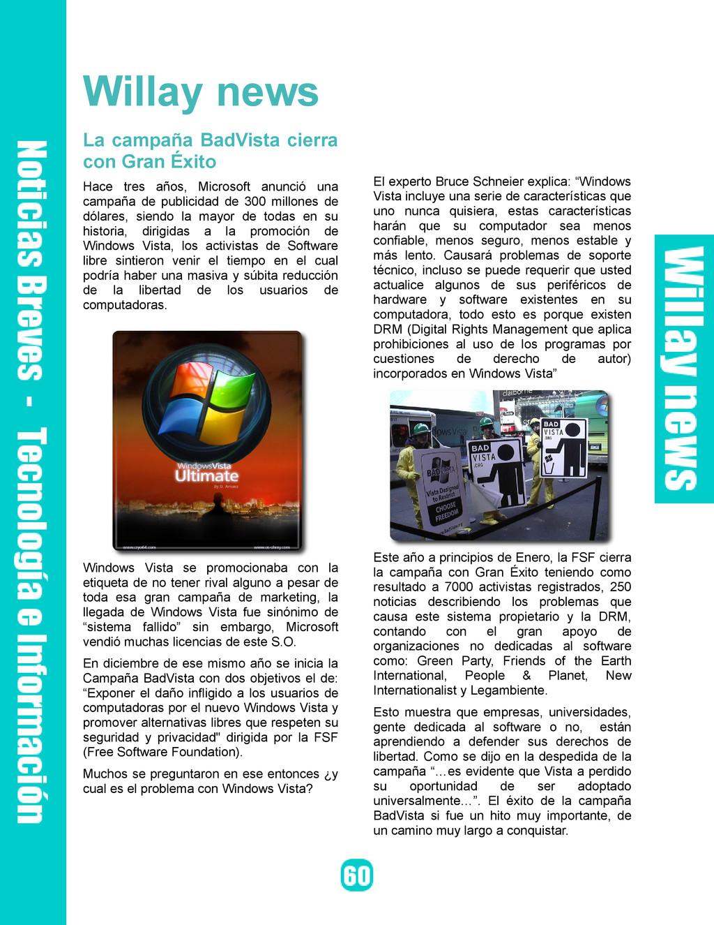 Willay news La campaña BadVista cierra con Gran...