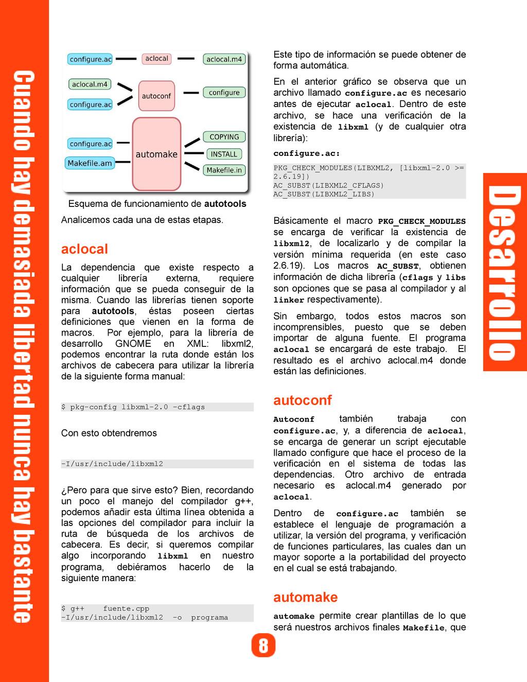 Esquema de funcionamiento de autotools Analicem...