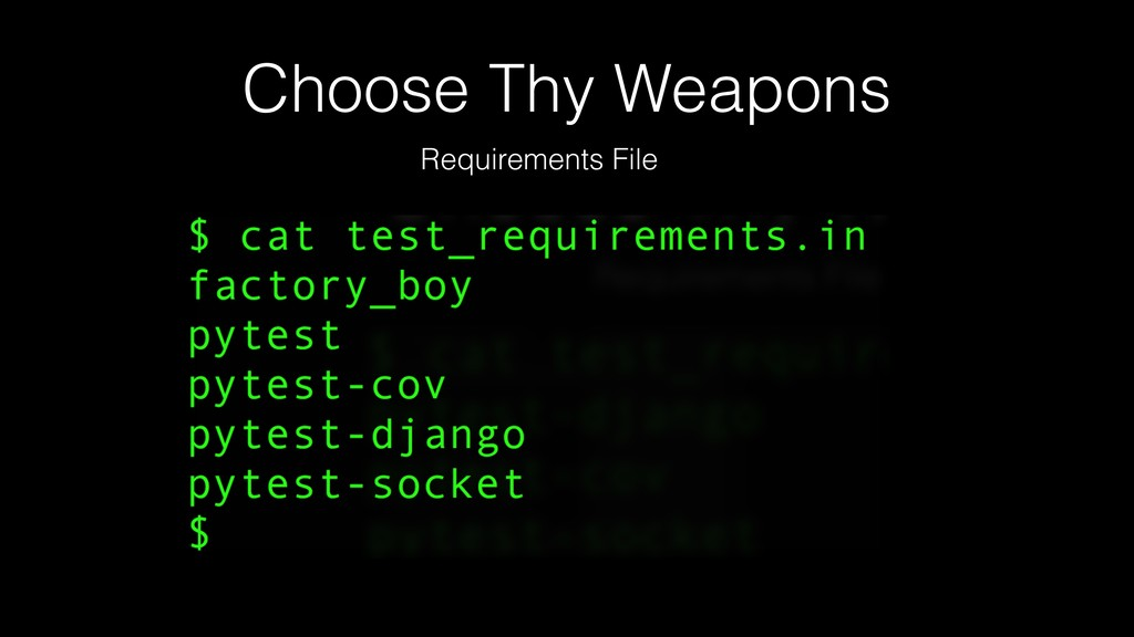 Choose Thy Weapons Requirements File
