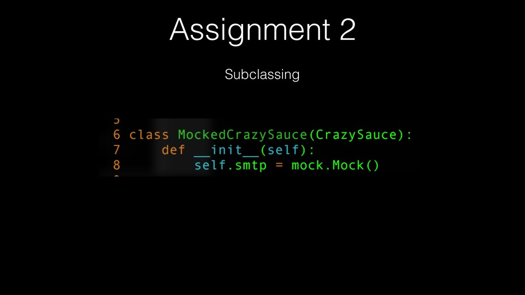 Assignment 2 Subclassing