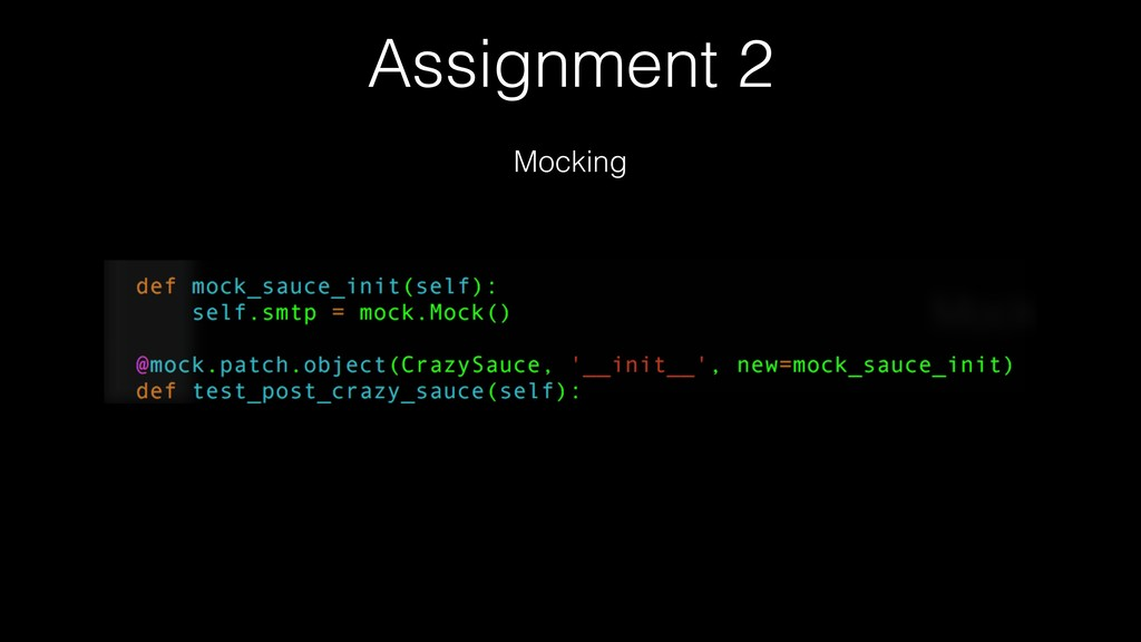 Assignment 2 Mocking