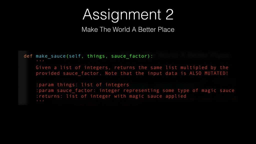 Assignment 2 Make The World A Better Place