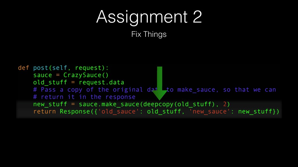 Assignment 2 Fix Things