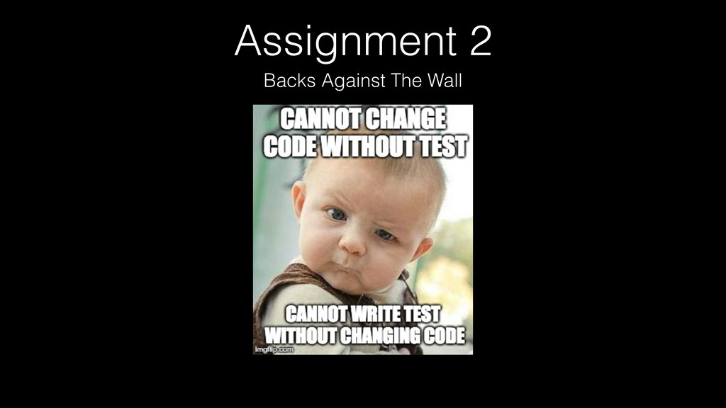 Assignment 2 Backs Against The Wall