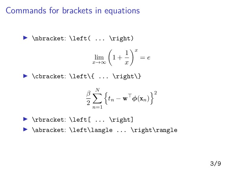 Commands for brackets in equations ▶ \nbracket:...