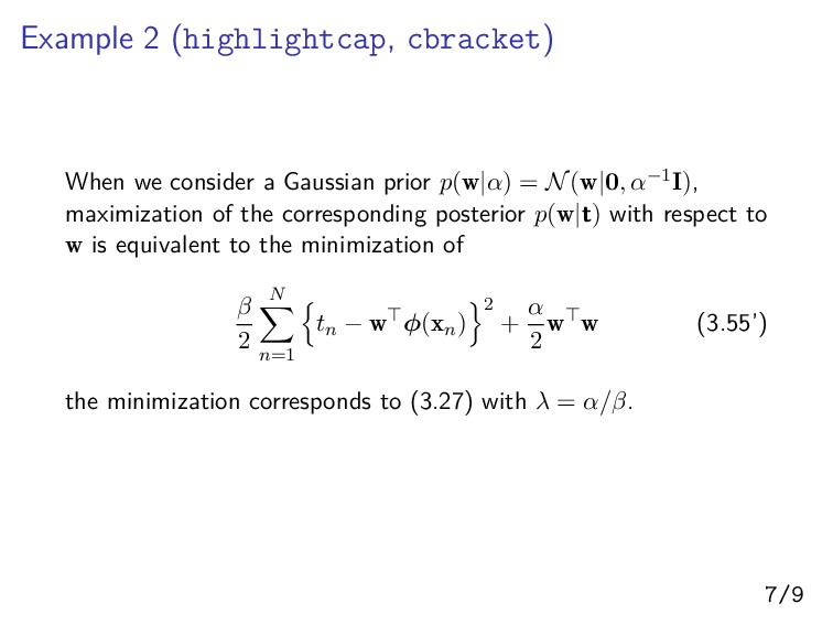 Example 2 (highlightcap, cbracket) When we cons...