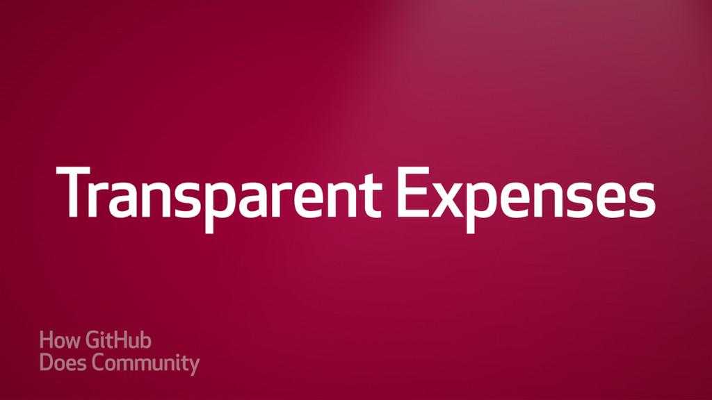 Transparent Expenses