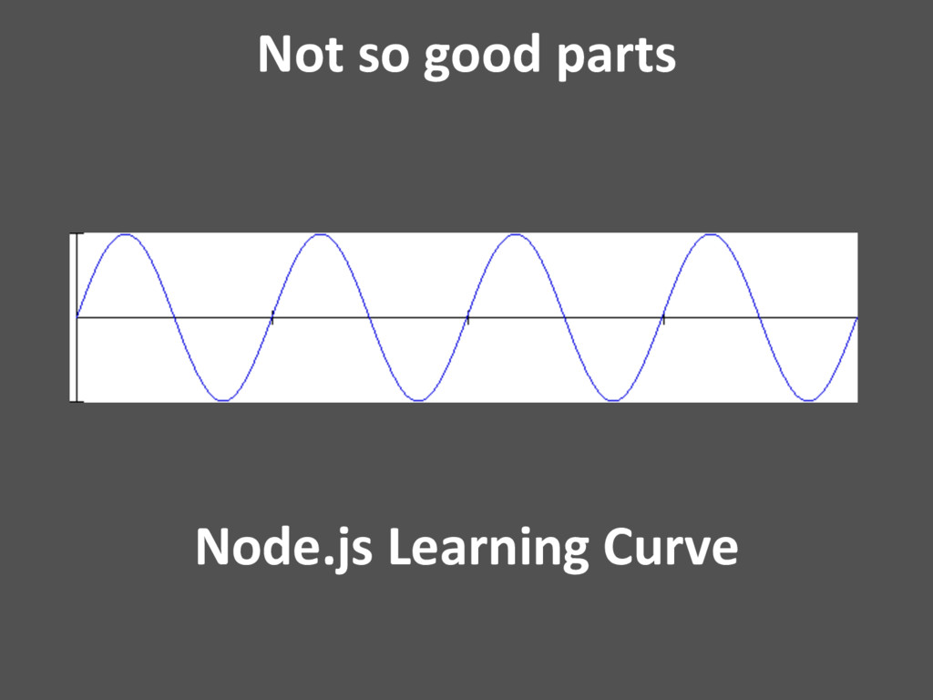 Not so good parts Node.js Learning Curve