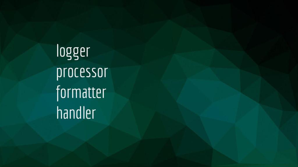 logger processor formatter handler