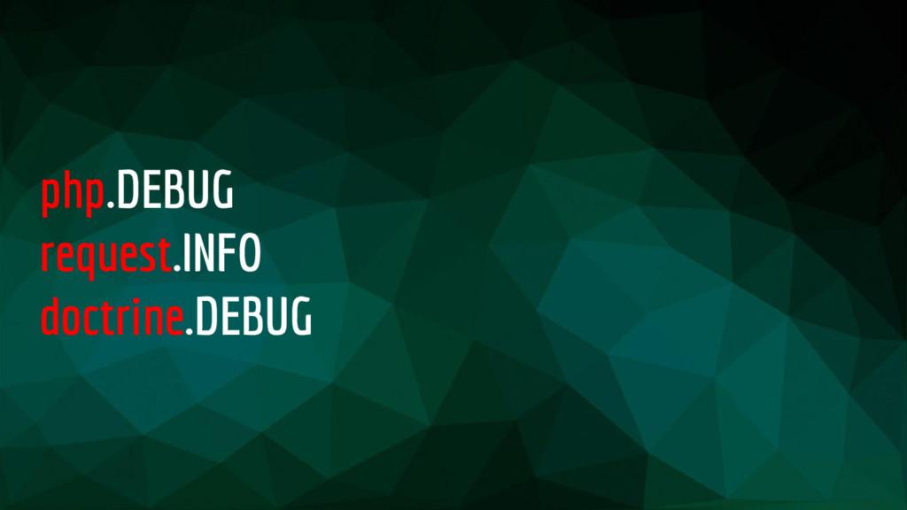 php.DEBUG request.INFO doctrine.DEBUG