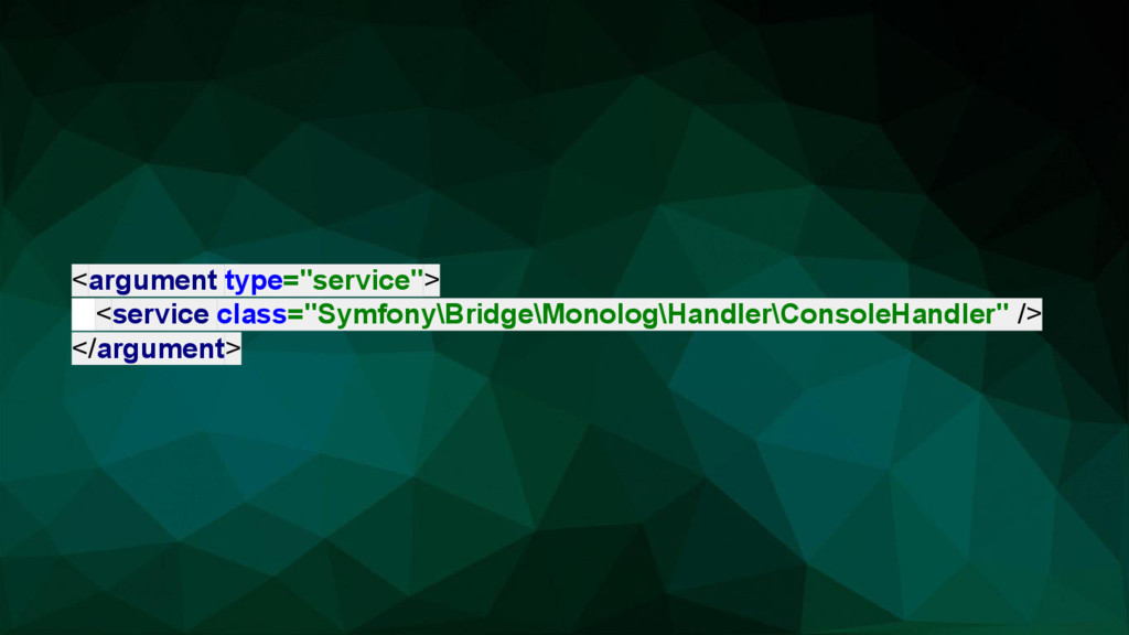 "<argument type=""service""> <service class=""Symfo..."