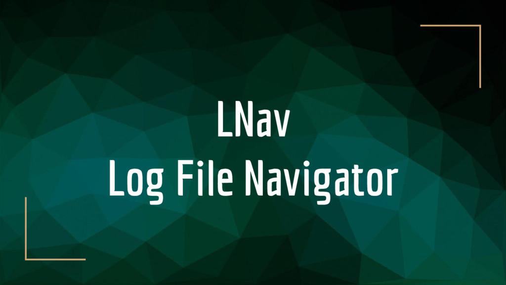 LNav Log File Navigator
