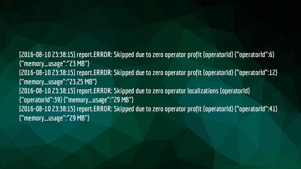 [2016-08-10 23:38:15] report.ERROR: Skipped due...
