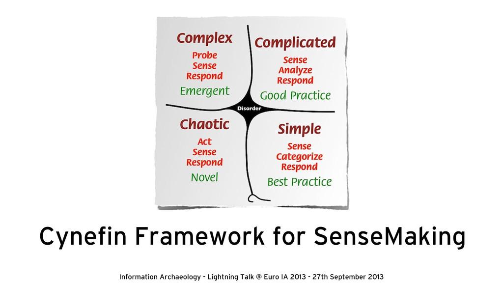 Cynefin Framework for SenseMaking Information Ar...