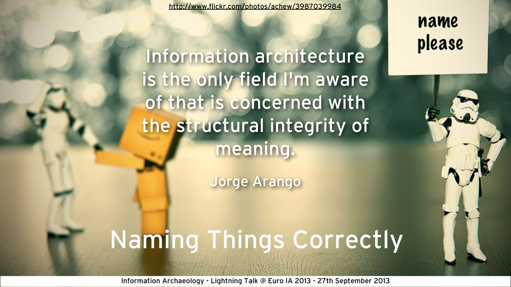 Naming Things Correctly Information architectur...