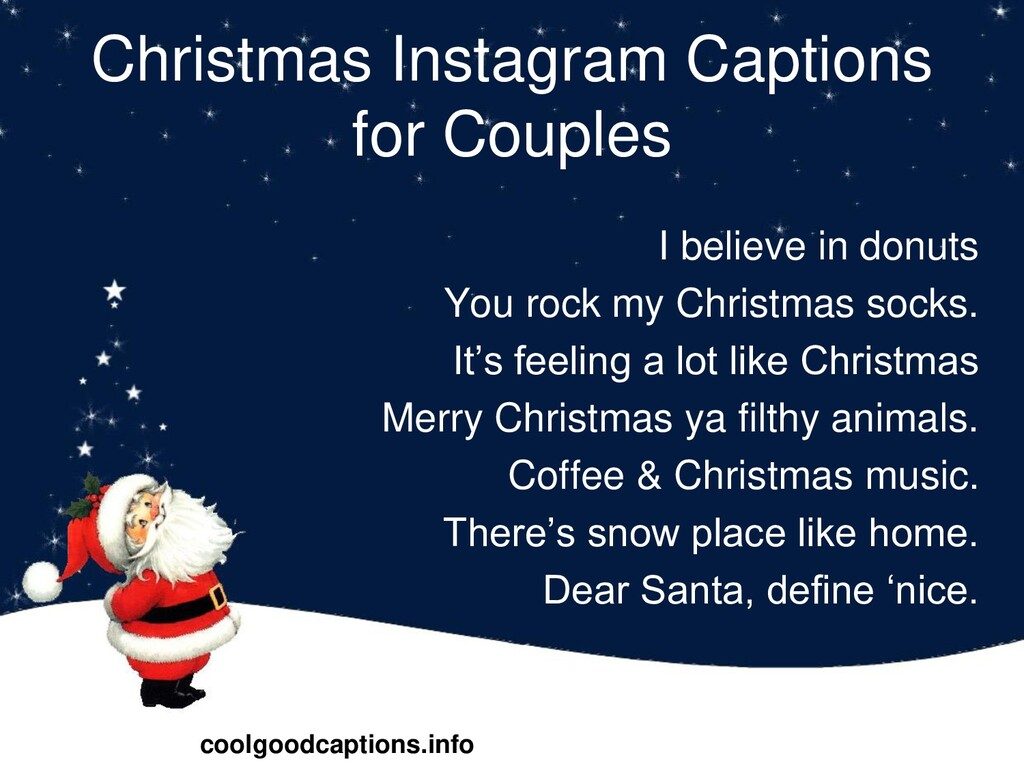 Christmas Instagram Captions for Couples I beli...