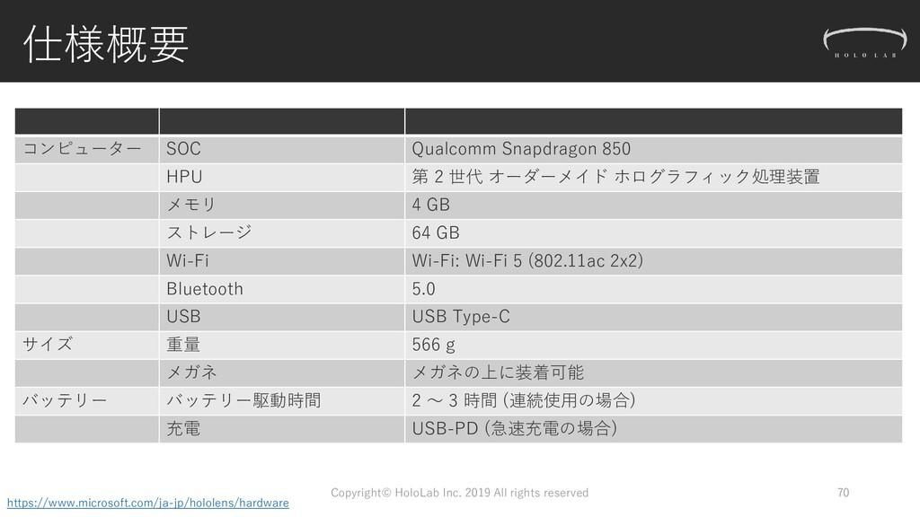 仕様概要 コンピューター SOC Qualcomm Snapdragon 850 HPU 第 ...