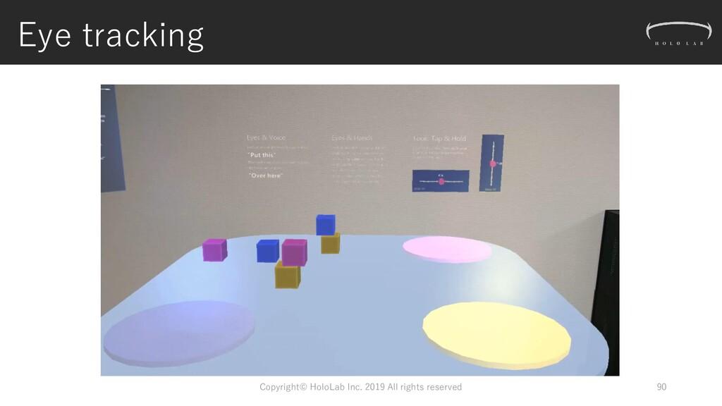Eye tracking Copyright© HoloLab Inc. 2019 All r...